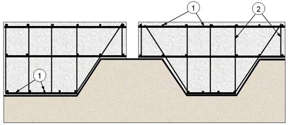 Схема армирования монолитного